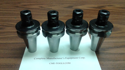"BT40-ER16 COLLET CHUCK W. 2.75"" GAGE LENGTH---4 CHUCKS Tool Holder Set"
