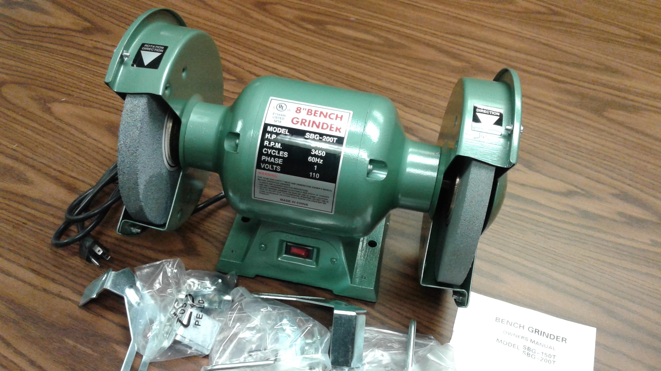 Groovy 8 Bench Grinder 3 4Hp Heavy Duty Ul Listed W Eye Pdpeps Interior Chair Design Pdpepsorg