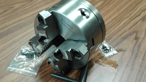 "6"" 4-JAW SELF-CENTERING LATHE CHUCK w. Top & bottom jaws w. D1-4 adapter-new"