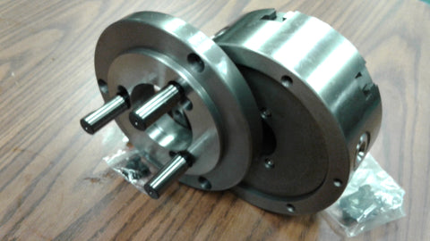 "6"" 6-JAW SELF-CENTERING LATHE CHUCK w. solid jaws w. D1-4 adapter---new"