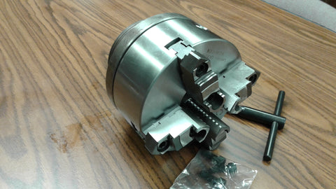 "6"" 4-JAW SELF-CENTERING LATHE CHUCK w. Top & bottom jaws w. L0 adapter-new"