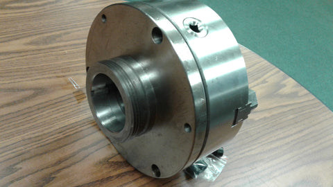 "10"" 3-JAW SELF-CENTERING LATHE CHUCK top&bottom jaws w. L0 back adapter plate"