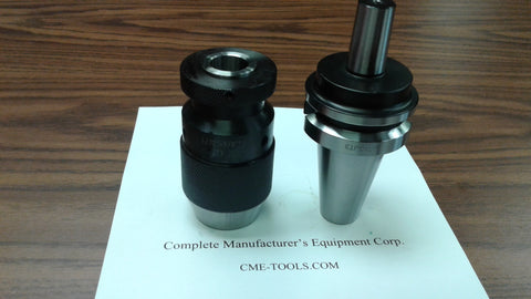 "CME/HARVEST 5/8"" heavy duty KEYLESS DRILL CHUCK W. BT40 ARBOR CNC TOOLING--NEW"