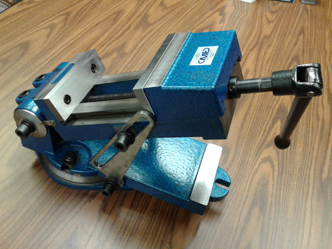 "6"" sine vise, angle vise heavy duty w. swivel base,6-1/2"" opening 850-QZX160-new"