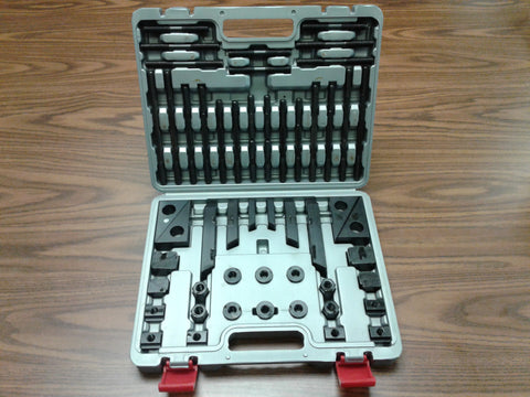 "58pcs/set Clamping Kits Bridgeport,1/2""-13 studs,5/8"" table slots fitted in heavy duty suite case#802-755SC-new"