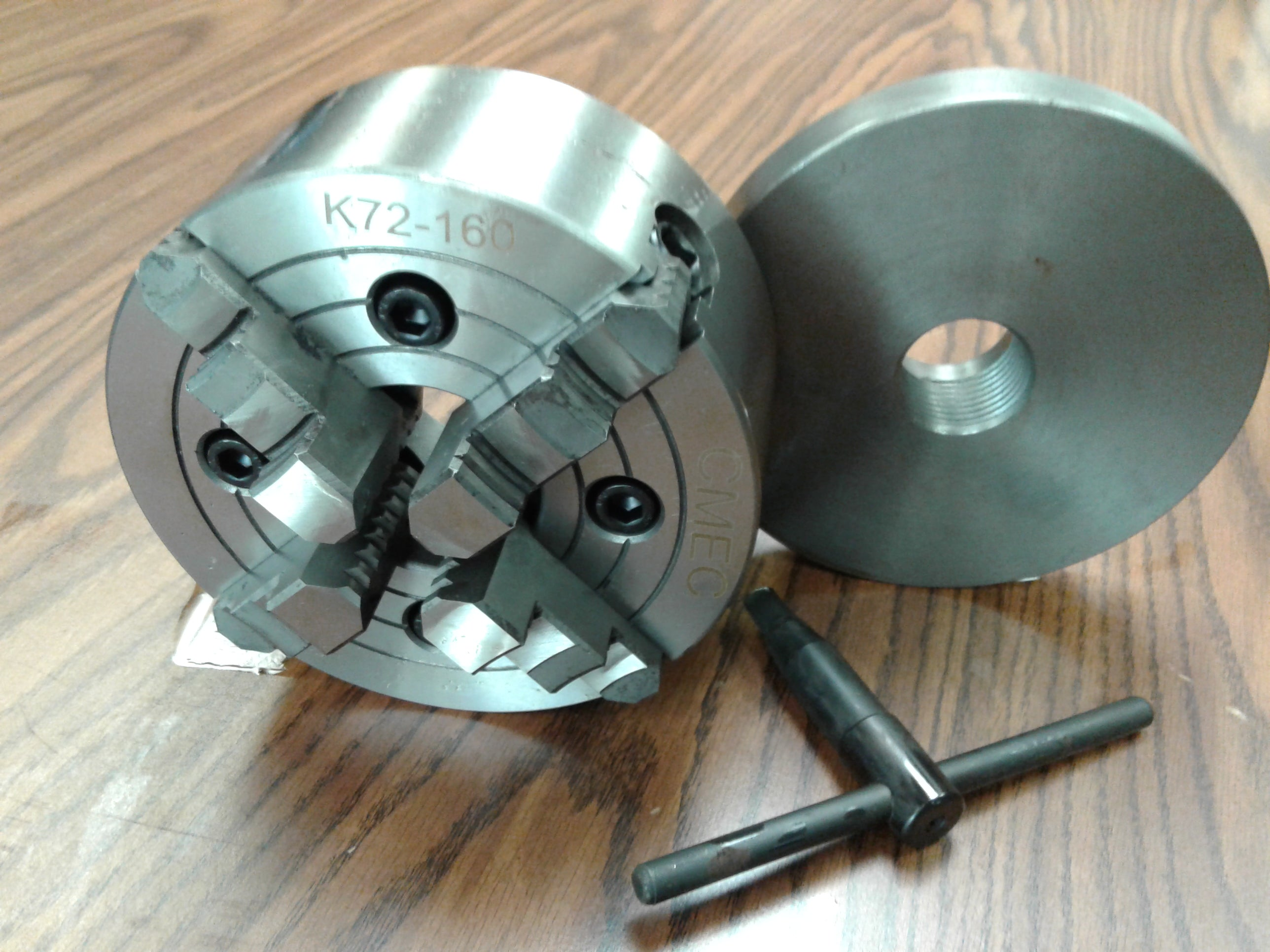 """4/"""" 4 JAW PRECISION LATHE CHUCK W// INDEPENDENT JAWS  ***NEW***"""