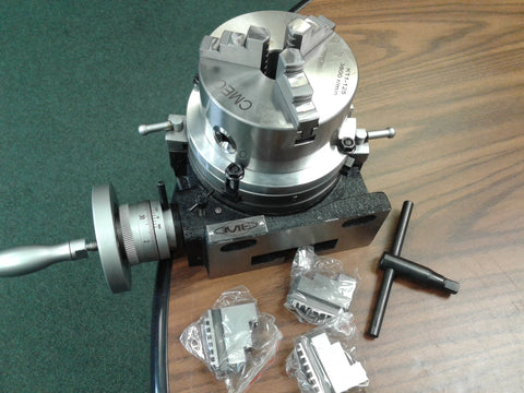 "6"" HORIZONTAL & VERTICAL ROTARY TABLE w. adapter & 3-jaw chuck,#IN-TSL6-C5-new"