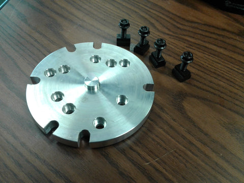 "6"" base adapter plate mount chucks on rotary table or milling machine #IN-ADP-6"