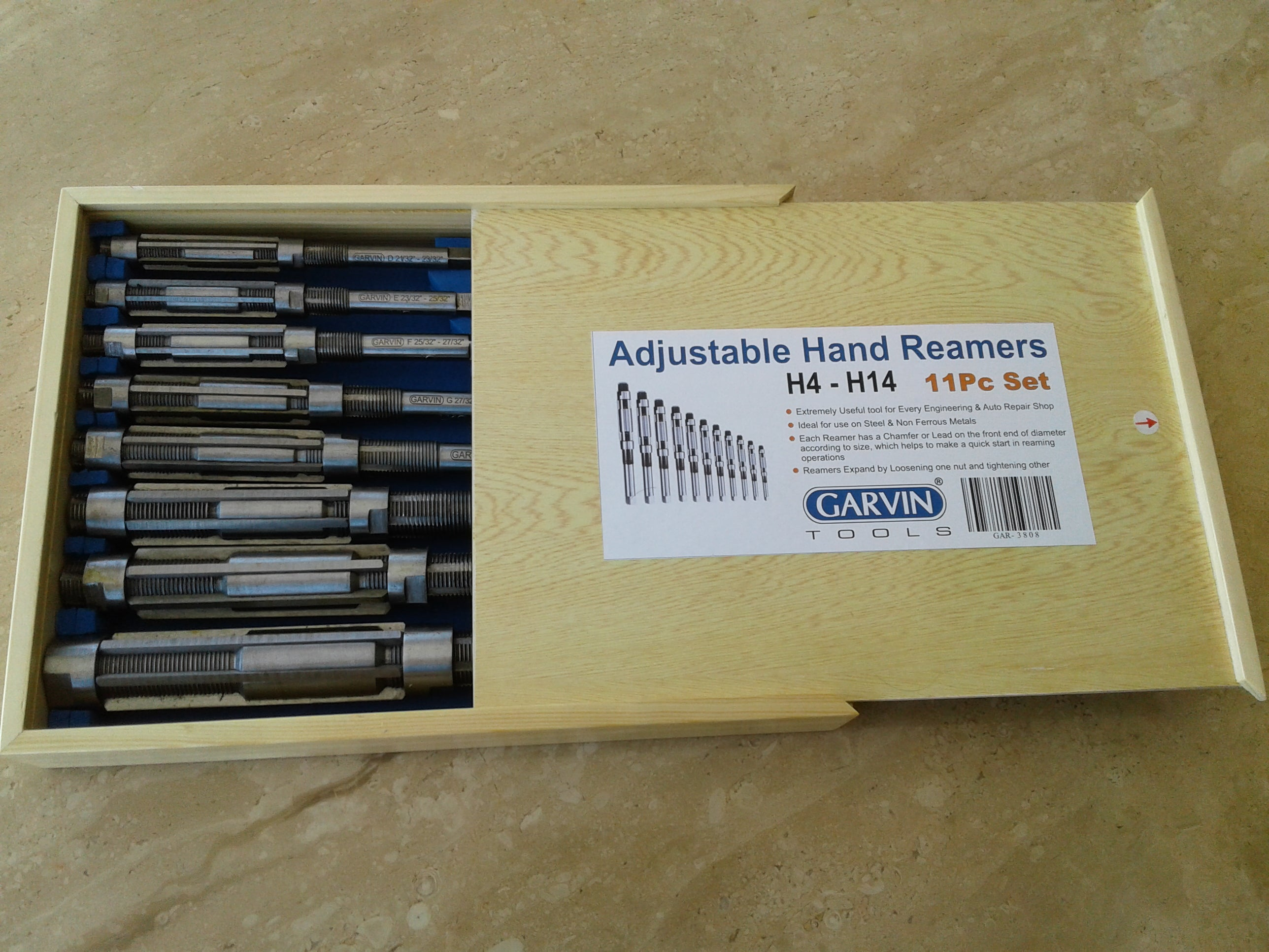 11 Pcs Set Adjustable Hand Reamer H4 to H14 New Expanding Reamer Set