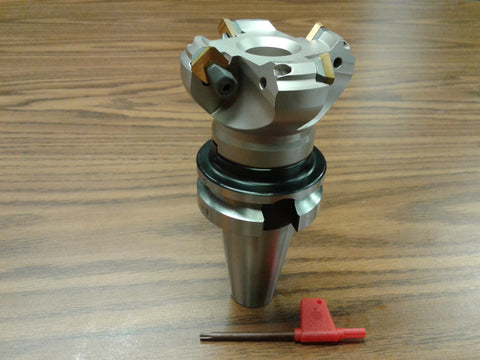 "2-1/2"" 45 degree indexable face shell mill BT40 Arbor ,face milling cutter -new"