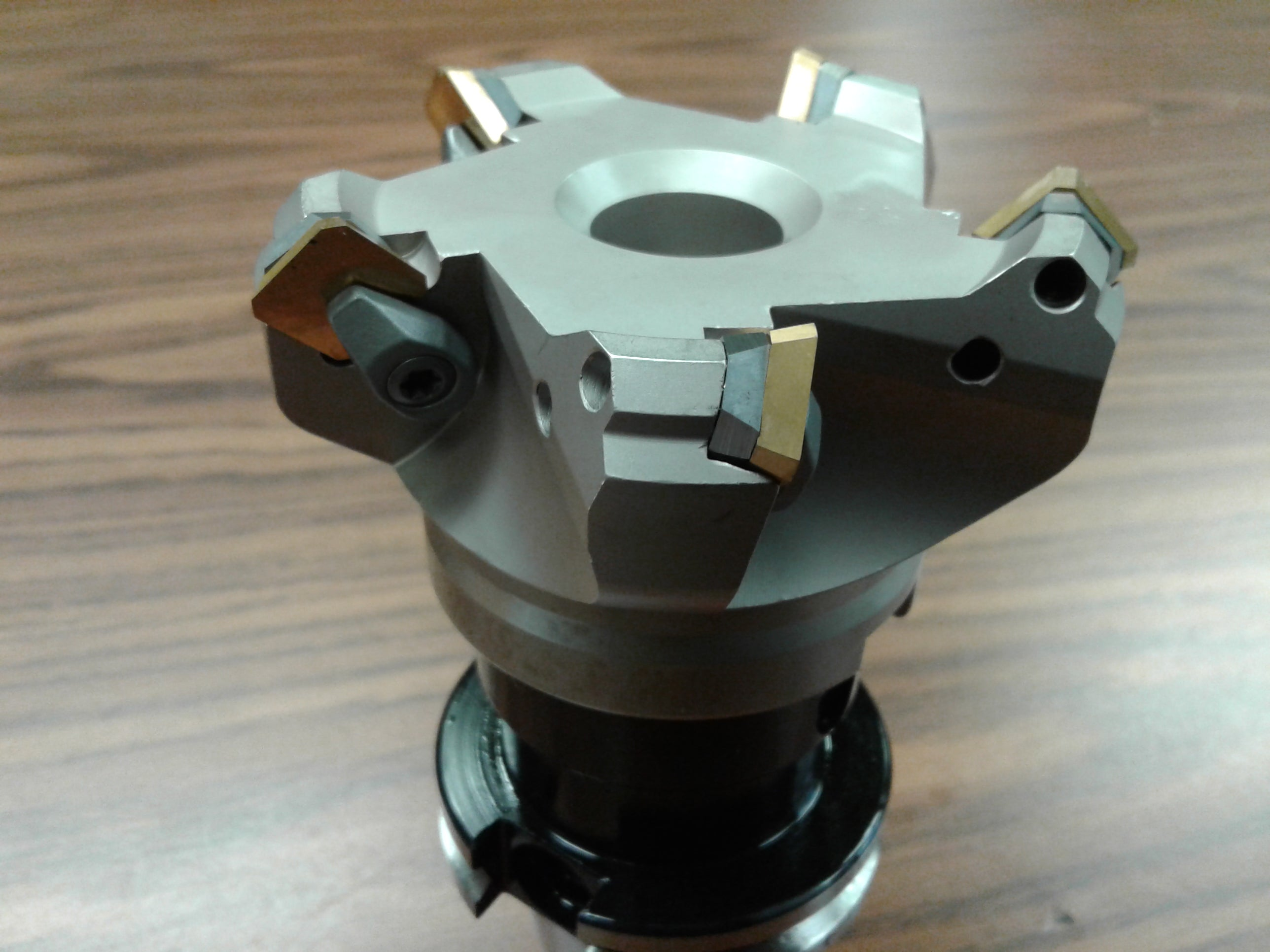 """SEAN42AFTN w 5/"""" 45 degree indexable face mill shell mill w CAT40 arbor-new"""
