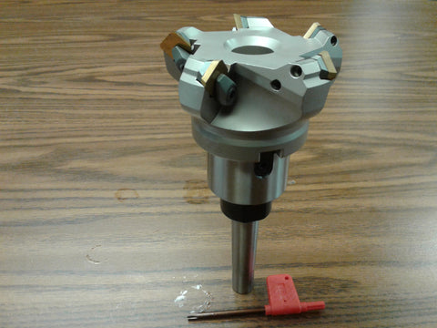 "3"" 45 degree indexable face shell mill w. MT2 Arbor, face milling cutter-new"