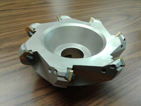 "6"" 45 degree indexable face shell mill, face milling cutter w. SEAN42AFTN --new"