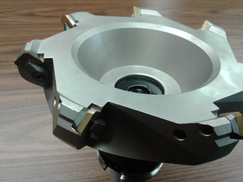 "6"" 45 degree indexable face shell mill, face milling cutter w SEAN42AFTN, CAT40"