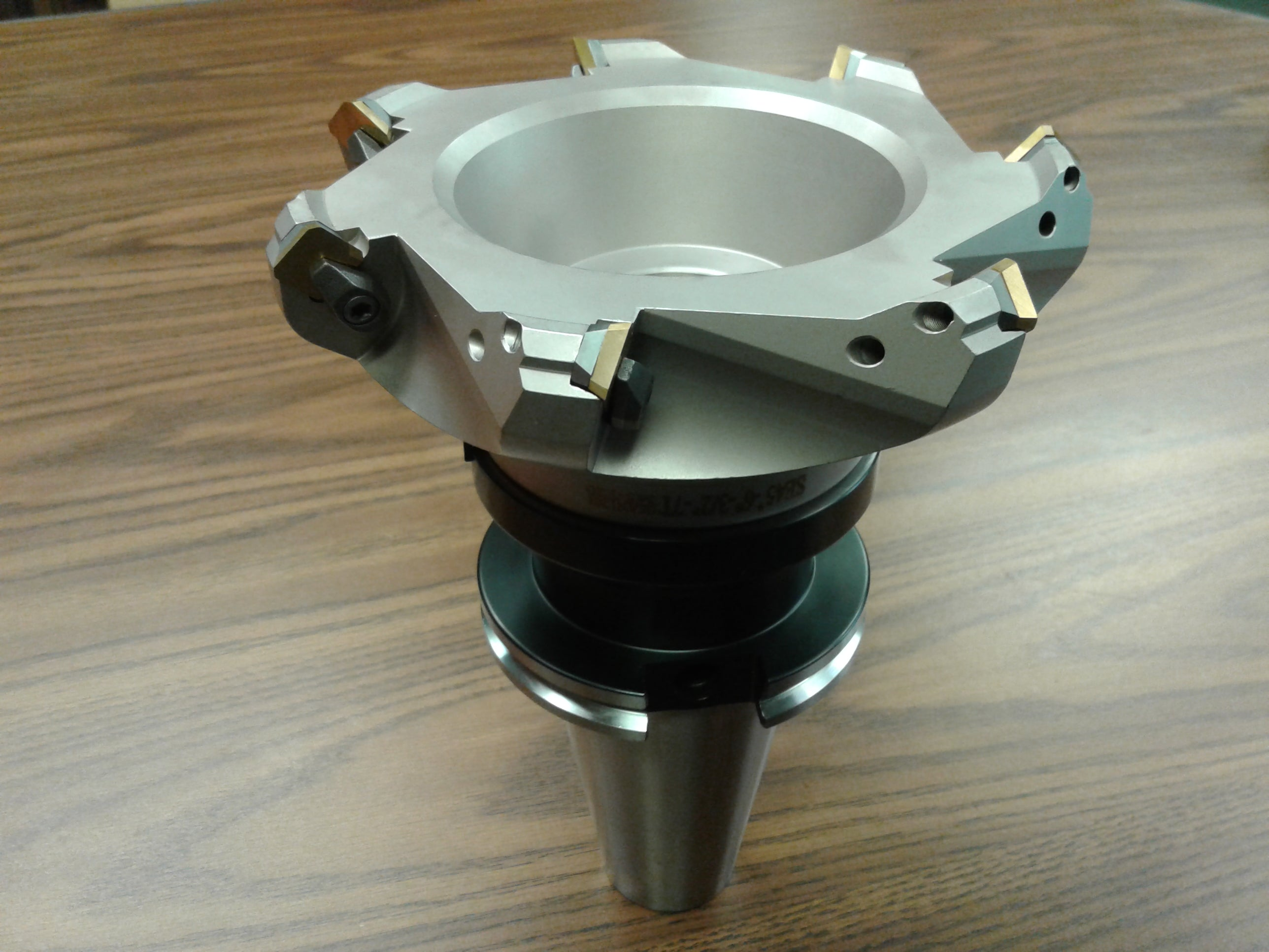 """3/"""" 45 degree indexable face shell mill w CAT50 Arbor,face milling cutter-new"""