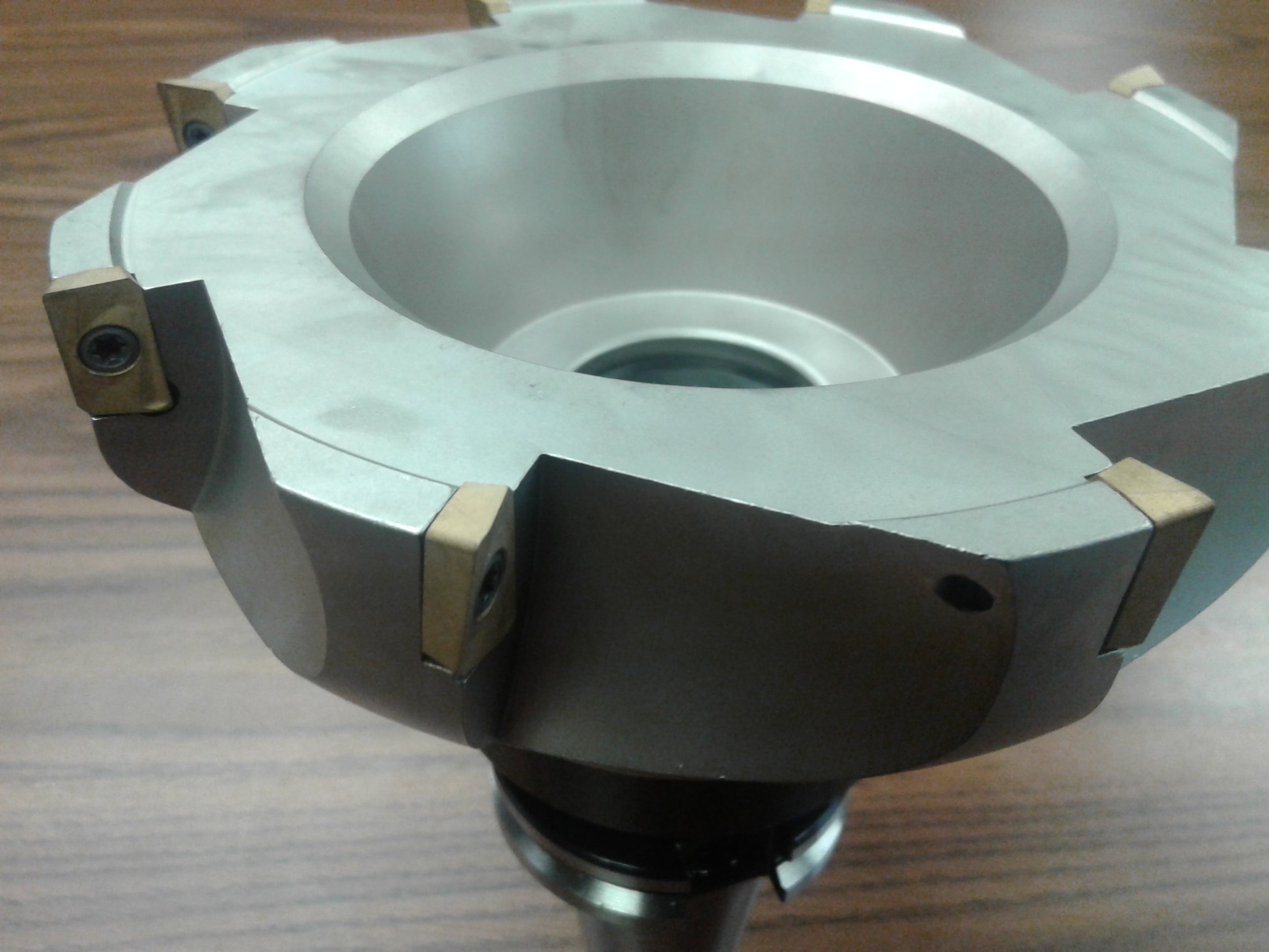 """6/"""" 90 degree indexable face shell mill CAT40 milling cutter APKT #Z-2526-6080"""