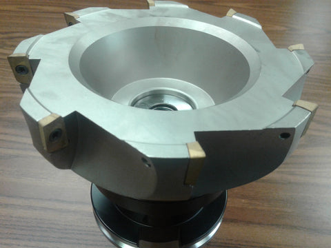 "6"" 90 degree indexable face shell mill, milling cutter, CAT50, APKT #Z-2526-6080"