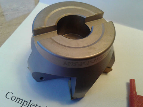 "3"" 75 degree indexable face shell mill,face milling cutter APKT #506-75AP-30"
