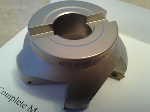 "4"" 75 degree indexable face shell mill,face milling cutter APKT #506-75AP-40"