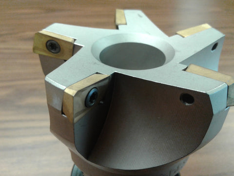 "3"" 75 degree indexable face shell mill,milling cutter, CAT40, APKT #506-75AP-30"