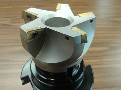 "3"" 75 degree indexable face shell mill,milling cutter, CAT50, APKT 506-75AP-30"
