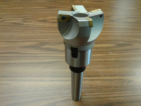 "2-1/2"" 75 degree indexable face shell mill cutter, MT3 arbor,APKT #506-75AP-25"