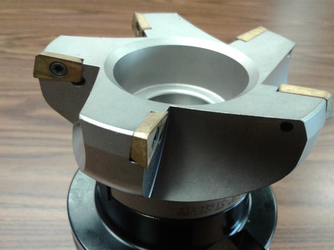 "4"" 75 degree indexable face shell mill, milling cutter, CAT50, APKT #506-75AP-40"