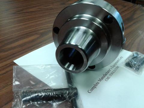 "5C Collet Chuck with 2-1/4""-8 semi-finished adapter plate,Chuck Dia. 5"" #5C-05F0"