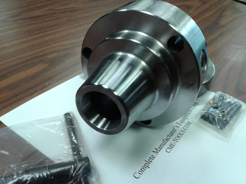 "5C Collet Chuck with 1-1/2""-8 semi-finished adapter plate,Chuck Dia. 5"" #5C-05F0"
