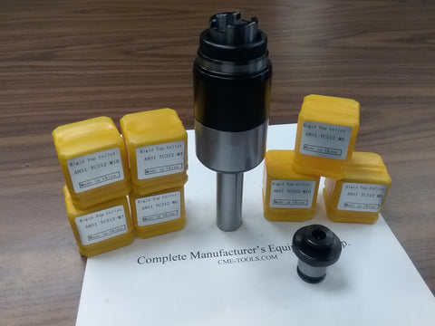 "3/4"" shank tapping head tap collet chuck,7 metric positive drive P-type adapters"
