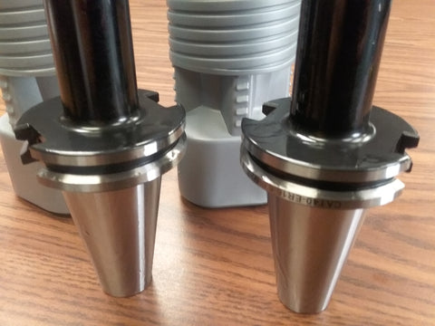 "CAT40-ER16 COLLET CHUCKS W. 6"" LONG GAGE LENGTH---3 CHUCKS"