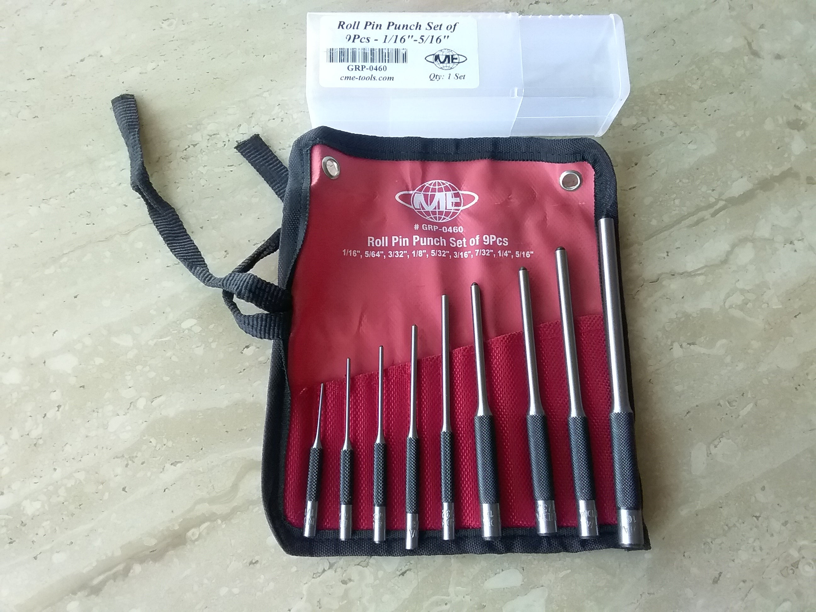 9pcs//set 40CR Steel Roll Pin Punching Tool Supply For Removing Pins Professional