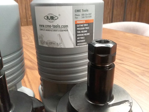 "CAT50-ER16 COLLET CHUCK 4"" gage length---2 CHUCKS"