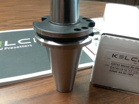 "5/16"" Shrink Fit CAT40 end mill holder Germany KELCH brand G2.5/25000RPM-new"