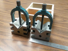 "Multi-use V-block & clamp set 2-3/4x2-1/2x2"", 2"" capacity #706-SZ-212-new"