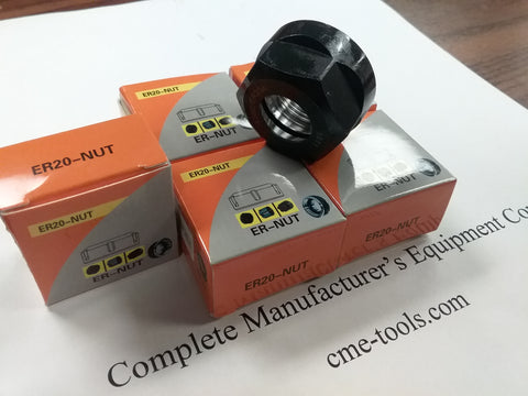 5pcs ER20 Nut for clamping collets, balanced to G2.5/25000rpm-NUT-ER20-G25-New