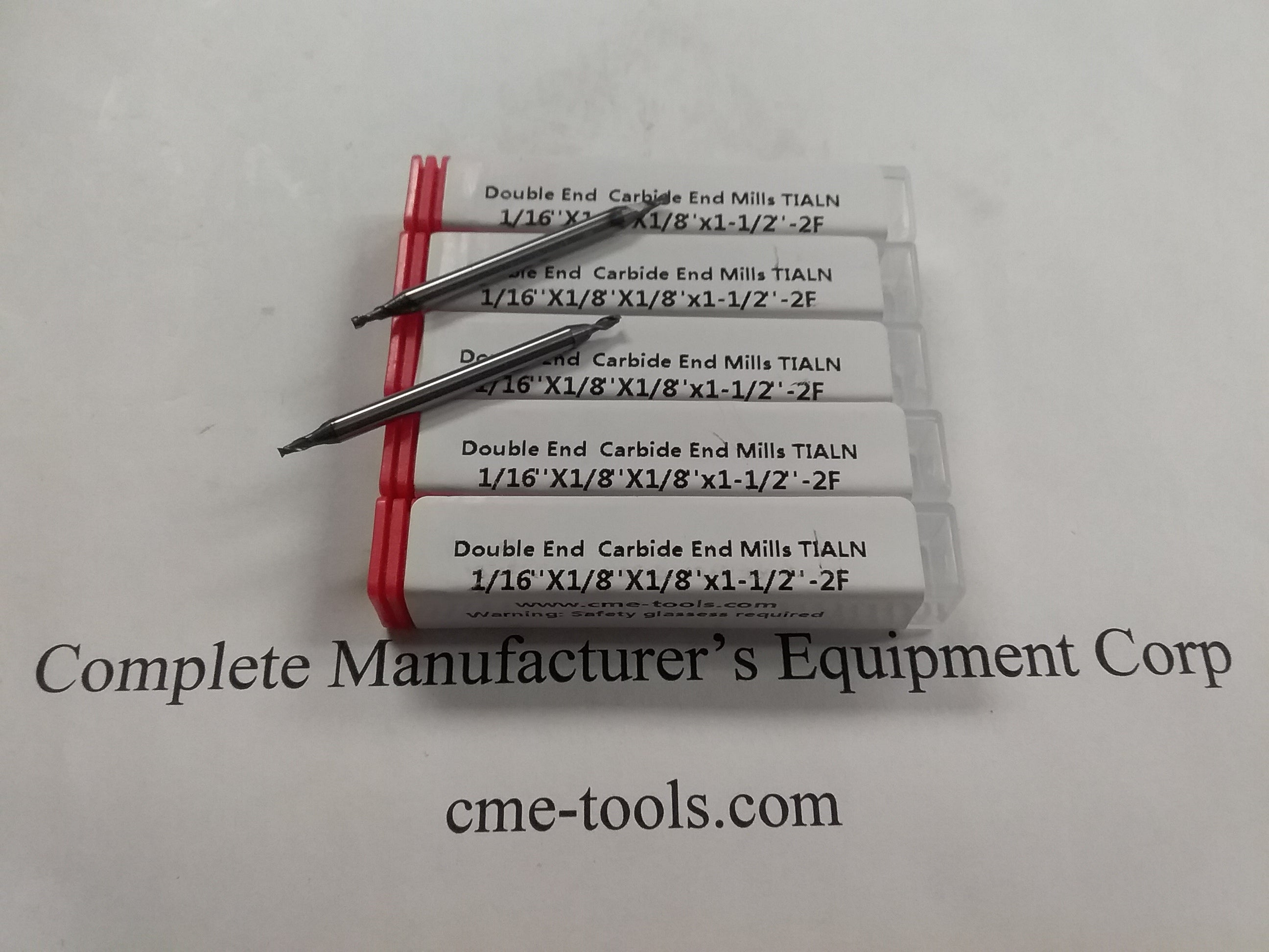 """5pcs 5//16/"""" double end Solid Carbide End Mill Tialn Coated 2 flute 1006-TDE-516F2"""