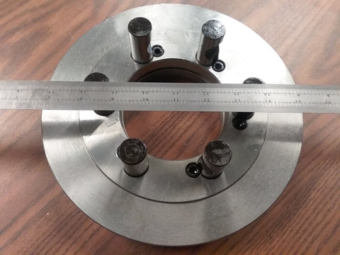 "10"" D1-6, D6 semi-finished adapter Plate for CHUCKS #ADP-10-D6SM"