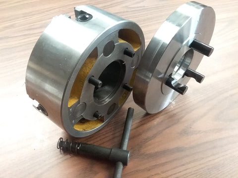 "8"" 4-JAW LATHE CHUCK independent jaws w D1-4, D4 adapter semi-finish#0804F0-NEW"