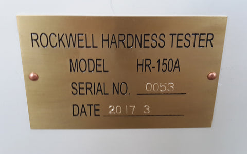 ROCKWELL TYPE HARDNESS TESTER