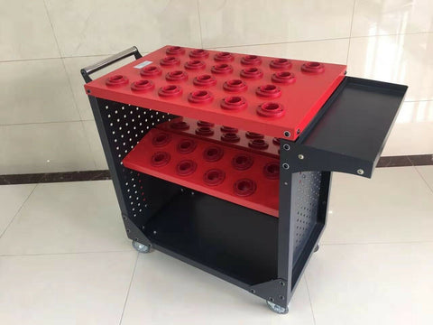 CME Heavy Duty CNC TOOLING CART FOR CAT40, BT40 Tool Holders Cart Capacity 40