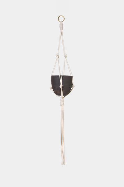 BRASS & MARINA COTTON HANGING PLANTER