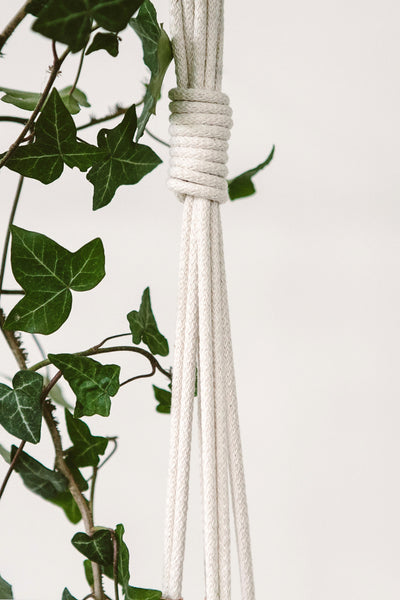 PURE COTTON MACRAME HANGING PLANTER