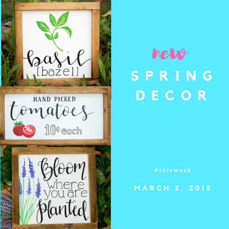 THISWEEK: Spring signs are here!