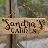 Custom Garden sign on rope | Simply Pallets
