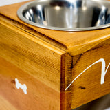 Custom Wooden Dog Bowl Stand | Simply Pallets