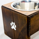 Personalized Wooden Dog Bowl Stand | Simply Pallets