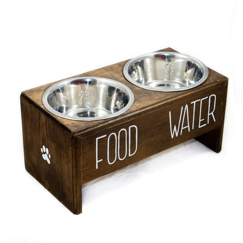 Rae Dunn Inspired Wooden Dog Feeder | Simply Pallets
