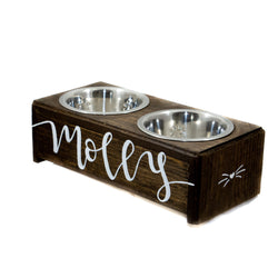 Wooden Cat Bowl Stand | Small Dog Feeder | Simply Pallets