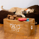 Personalized Wooden Pet Toy Box